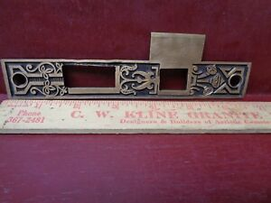 Large 6 3 4 Antique R E Heavy Cast Brass Mortise Lock Strike Plate L Or R 8