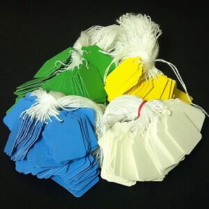 1000 Pre strung Tags String Tags Price Tags 4 Colors White Blue Green Yellow