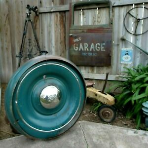 1930 36 Ford Wheel Cover Continental Kit Spare Tire Accessory Trim Nice
