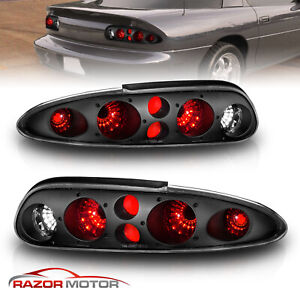 1993 2002 Chevy Camaro Z28 Black Tail Lights Lamps Replacement Pair