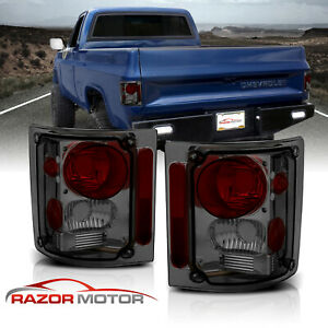 1973 1991 Chevy Gm Blazer Suburban Pickup Truck Smoke Tail Lights Pair