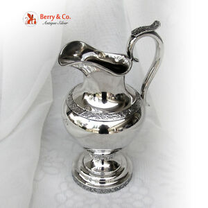 American Coin Silver Large Cream Pitcher 1860