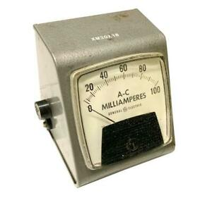 General Electric Ge Type A0 91 A c Milliamperes Meter 0 100 Ma