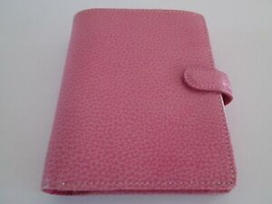 Filofax Finsbury Pocket Size Organizer Pink Grained Leather