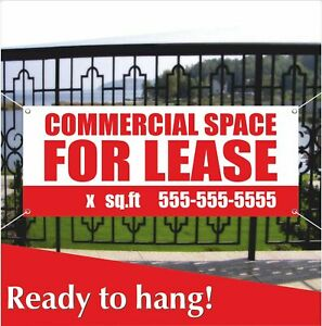 Commercial Space For Lease Banner Vinyl Mesh Banner Sign Store Real Estate Space
