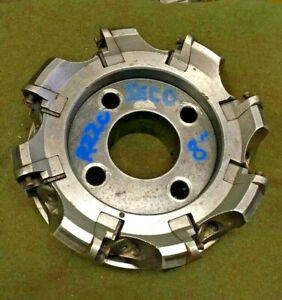Seco R220 8 Indexable Carbide Insert Face Milling Cutter Slab Mill 2 5 Arbor