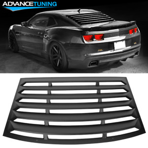 Fits 10 15 Chevy Camaro Rear Window Louver Sun Shade Cover Black Pur