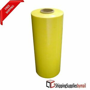 Pallet Machine Stretch Wrap Plastic Shrink Film Yellow 20 X 63 Ga 5000 5 Rolls