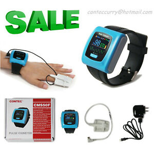 Contec Cms50f Wrist Pulse Oximeter Daily Overnight 24h Record Oled Pc Software