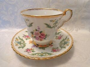 Royal Windsor Beaufort Vintage Fine Bone China Pedestal Cup Saucer England