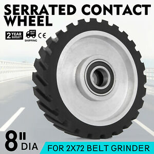 8 Belt Grinder Rubber Wheel Serrated 70 Duro Rubber Precision Hollow grinding