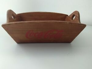 Collectible Authentic Coca Cola Wooden Crate Case for bread / bread basket