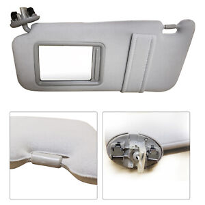 New Driver Side Gray Sun Visor For Toyota Camry With Sunroof And Light 2007 2011