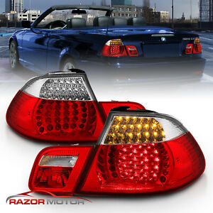 2000 2003 Bmw E46 3 Series 325ci 330ci Convertible Led Red Clear Tail Lights