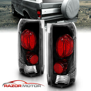 Factory Style 1989 1996 Ford F150 F250 F350 Bronco Black Tail Lights Pair