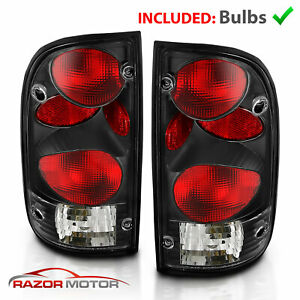 For 1995 1996 1997 1998 1999 2000 Toyota Tacoma Black Rear Brake Tail Lights Set