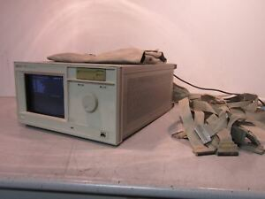 Hp 16500a Logic Analysis System Mainframe With Two 16550a 100 Mhz State 500 Mhz