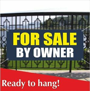 For Sale By Owner Banner Vinyl Mesh Banner Sign Clearance Discount Real Estat