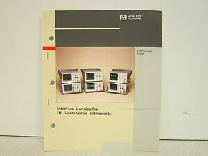 Hp Interface Modules For Hp 54600 series Instruments Manual Appears Unused Nice