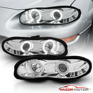 Ccfl Halo 1998 1999 2000 2001 2002 Chevy Camaro Chrome Projector Headlights