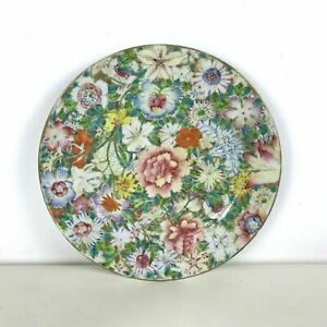 Antique Chinese Hand Painted 1000 Flowers Millefiori Plate 25