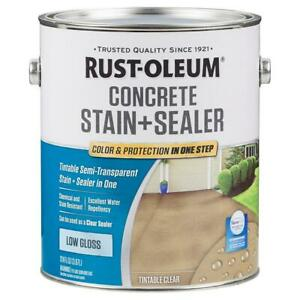 1 Gal Clear Low Gloss Concrete Stain Water Base Repellent Sealer 2 Pack Masonry