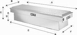 Lund Truck Bed Rail to rail Tool Box 07899