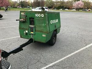 Sullair Diesel Air Compressor 100 Cfm Portable Towable Yanmar Torsion Axle 200hr