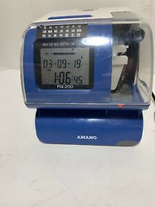 Amano Pix 200 Electronic Time Clock Recorder