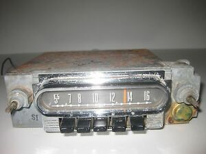 1962 Ford Galaxie Am Radio 2tmf Other Ford Products Maybe Mercury 1960s Oem