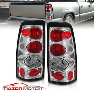 1999 2002 Chevy Silverado 1996 2006 Gmc Sierra 1500 2500 3500 Chrome Tail Lights