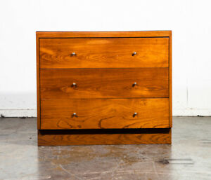 Mid Century Modern Dresser Chest Drawers Solid Wood Woodland Paul Mccobb White