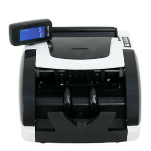 Used Money Bill Currency Counter Counting Machine Counterfeit Detector Uv Mg Ir