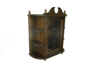 Vintage Wooden Kitchen Apothecary Medicine Bathroom Wall Cabinet Display