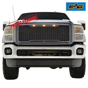 Eag 11 16 Ford Super Duty F250 Front Led Grill Full Packaged Upper Grille