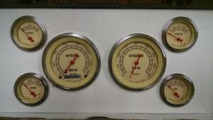 Classic Instruments Vintage Tan Gauges Vt01slf Free Shipping