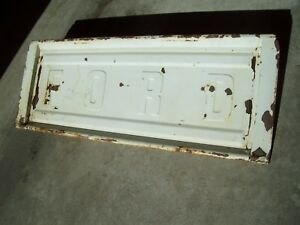 Vintage Ford Truck Tailgate Old White Paint Straight Original Tailgate