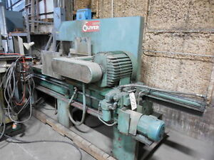Oliver Cold Saw No 858 m 52 Dia Blade Non ferrous Hyd Vise 25 Hp 26998