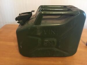 Jerry Can 3 Gallon Gas Gasoline Fuel Nato Military Metal Steal Tank