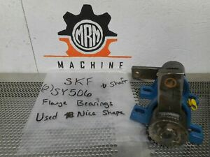 Skf Sy506 2 Pillow Block Bearings Shaft Used With Warranty