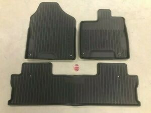 Honda 17 20 Ridgeline High Wall All Season Floor Mats Oem New 08p17 t6z 100