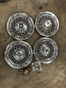 4 As New Buick Wire Wheel Covers 15 Gm Pontiac Oldsmobile Chevrolet