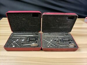 Lot Of 2 Starrett No 196 Dial Test Indicator Tool In Red Case i 3363