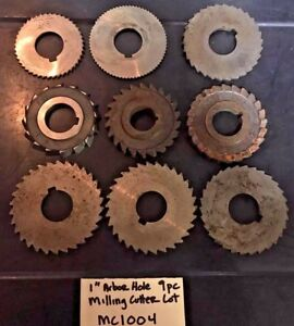 Horizontal Milling Machine Cutter Lot 1 Arbor Hole Mc1004 4 Machinist Atlas P
