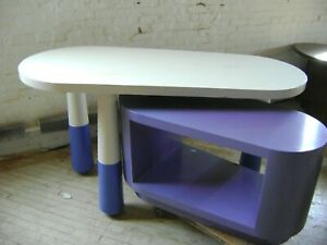 White Purple Retail Table Whimsical Childrens Store Display Table