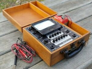 Vintage Precision Apparatus Co Model 858 Multimeter Tester With Leads