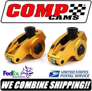 8 Comp Cams Ultra Gold Arc Aluminum 1 6 3 8 Sbc Chevy Roller Rocker Arms 19002 8