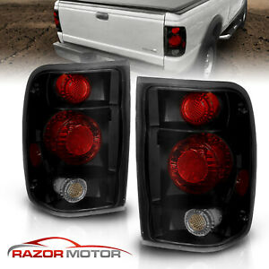 For 1998 2000 Ford Ranger Altezza Style Black Smoke Rear Brake Tail Lights Pair