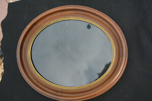 Antique 1860s Large Oval Walnut Picture Frame Gold Liner Great Condition