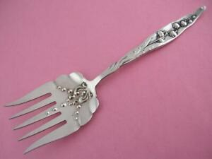 Rare Sterling Whiting Sardine Serving Fork Lily Of The Valley 1885